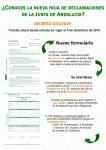 La Unión de Consumidores de Málaga lanza campaña sobre la actual hoja de reclamaciones